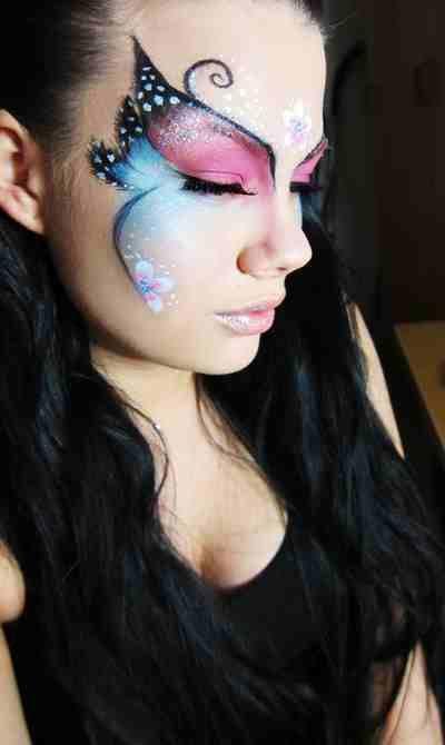 Idee make up farfalla per Carnevale   Butterfly makeup, Butterfly .