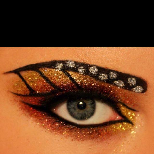 monarch butterfly eyes   Butterfly makeup, Butterfly halloween .