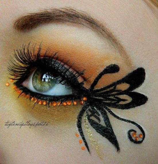 Butterfly – Idea Gallery - Makeup Geek   Butterfly makeup, Makeup .