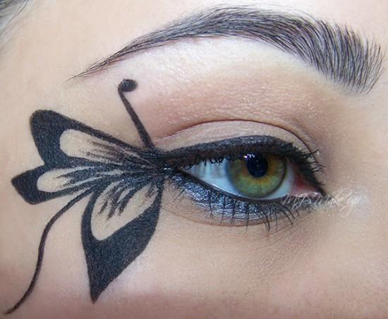 DIY Halloween Makeup : Butterfly   Butterfly makeup, Halloween .