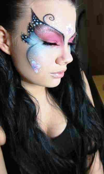 25 Cute Halloween Makeup Ideas for Women - Flawssy   Butterfly .
