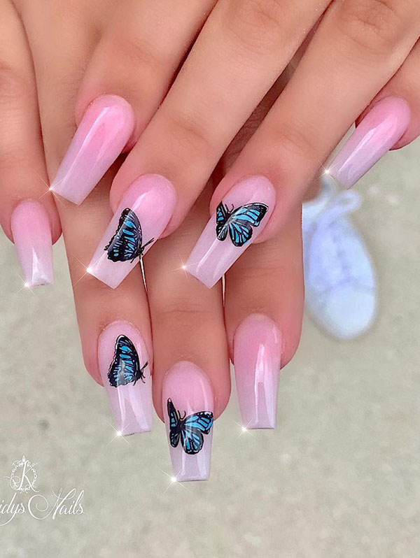 50 Pretty Butterfly Nail Art Designs You Will Love | Xuzinuo | Page