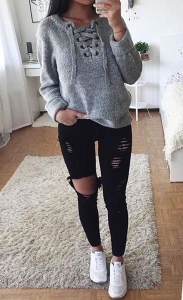 30+ Cute and Casual Winter Outfit Ideas for School (med bilder .