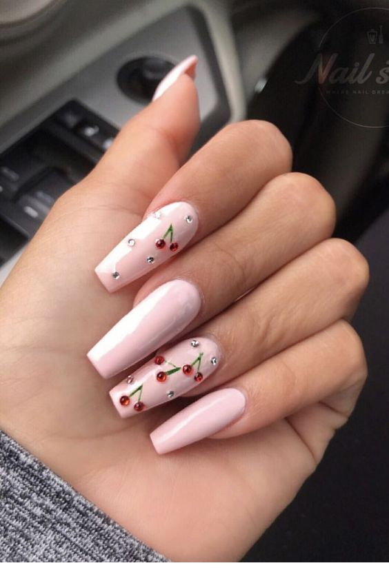 Sweet cherry nails desi