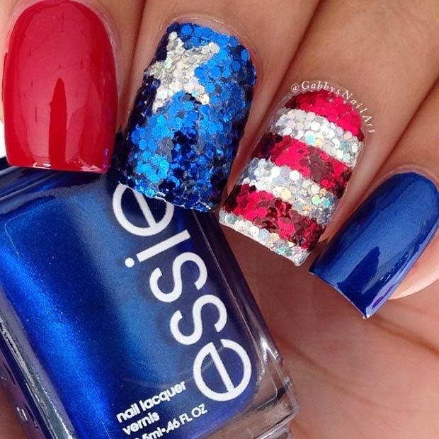 29 Fantastic Fourth of July Nail Design Ideas | StayGlam | July .