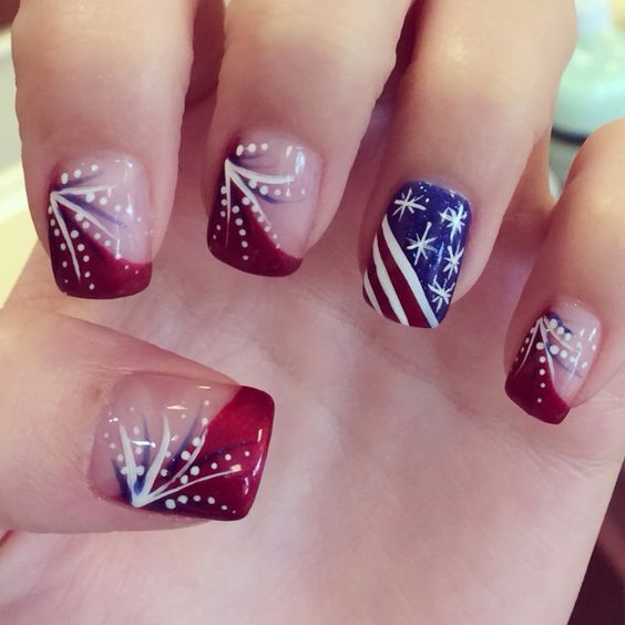 12 Unexpectedly Chic Fourth of July Nail Art Ideas | Patriotic .