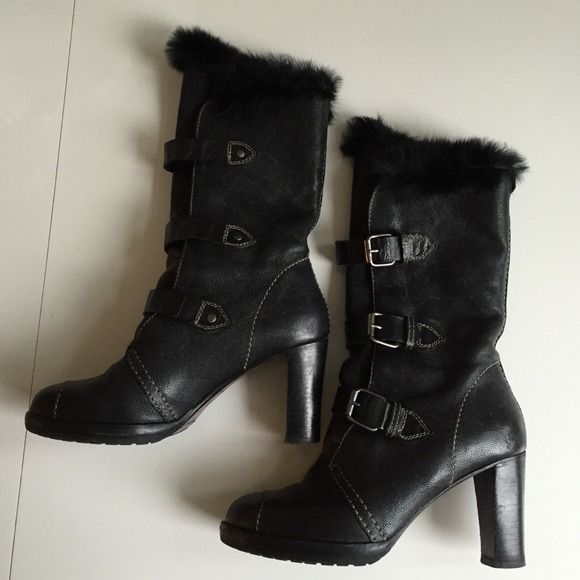 Henry Beguelin leather and fur boots - chic | Boots, Womens boots .