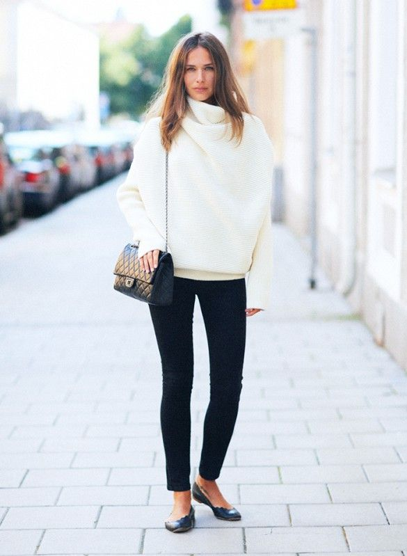 How to Look Put-Together in a Sweater | Chic winter outfits .