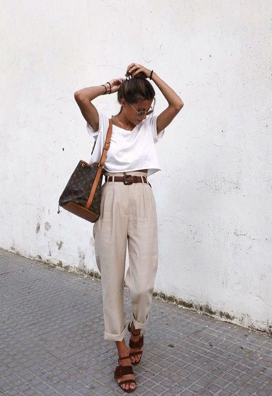 minimal chic summer outfit ideas #ootd #summerstyle | Chic summer .