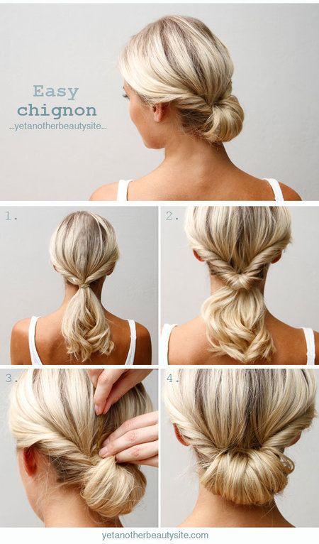 Try this Easy Chignon Hairstyle - Bellashoot | Chignon hair, Hair .