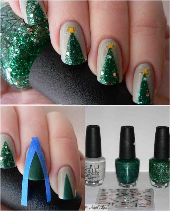 20 Fantastic DIY Christmas Nail Art Designs That Are Borderline .