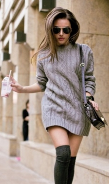 Picture Of comfy sweater dresses for cold weather