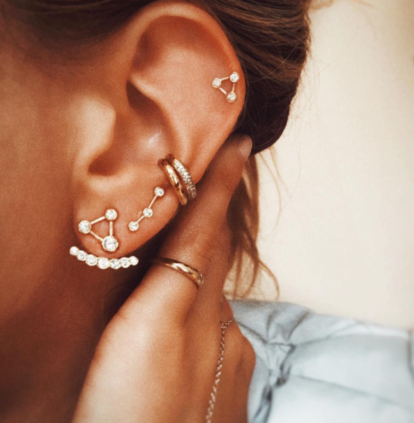 Summer Triangle Constellation Earrings – Get Rocked Sh