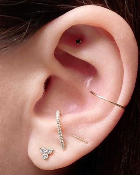 Ear Piercings - Multiple Ear Piercings Inspiration For Curating .