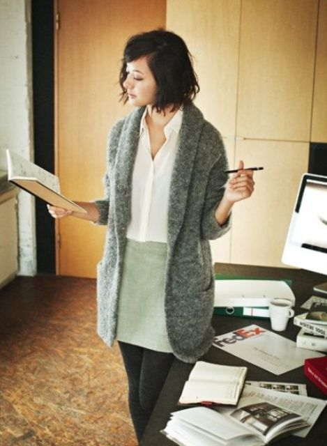20 Cozy Winter 2017 Work Outfits For Girls - Styleohol