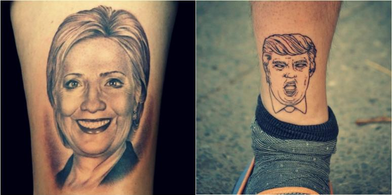 10 INSANE Donald Trump And Hillary Tattoos For Election 2016 .