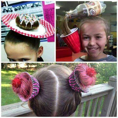 Lol. ..cute crazy hair day ideas   Crazy hair day at school, Wacky .