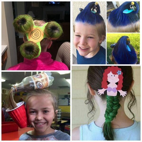 Crazy Hair Ideas   Wacky hair days, Crazy hair for kids, Crazy ha