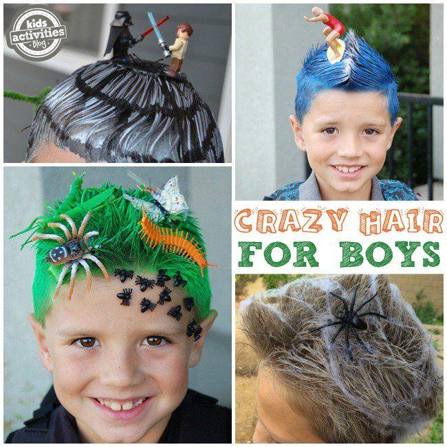 Silly, Wacky, And Fun Crazy Hair Day Ideas For School   Wacky hair .