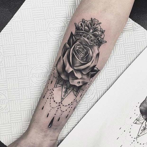 43 Creative Crown Tattoo Ideas for Women | StayGlam | Crown .