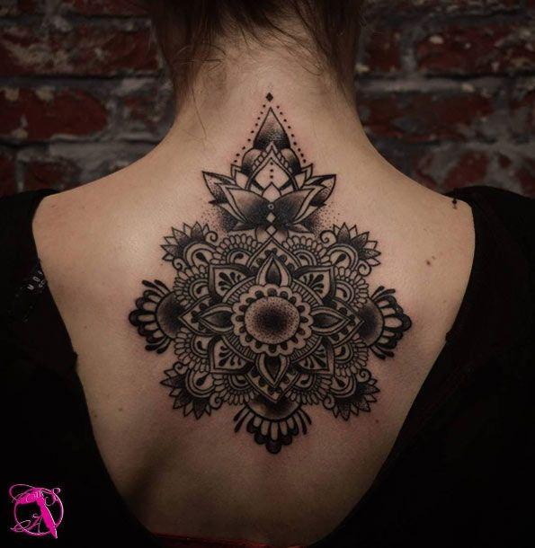 Creative mandala back piece by Dominika Czeczot | Tattoos, Mandala .