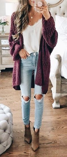 500+ Cardigan Outfits images in 2020 | outfits, casual outfits .