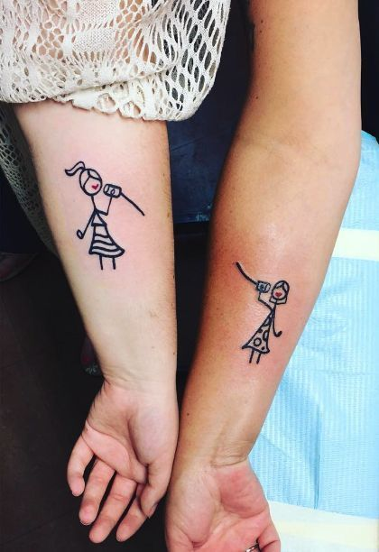 8 Adorable Mom And Daughter Tattoos | Tattoos for daughters .