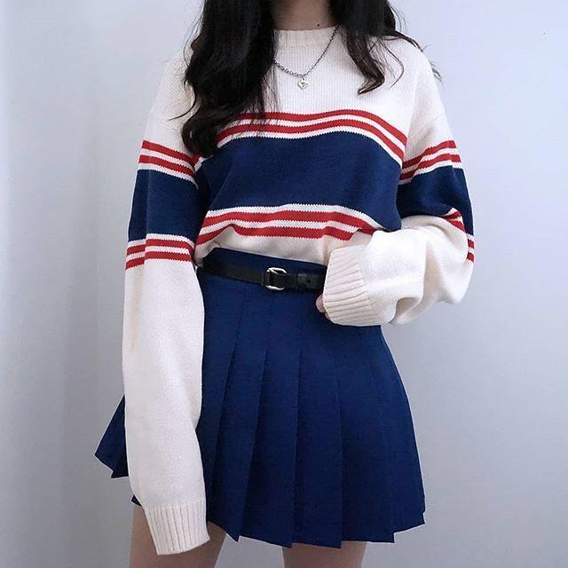 nautical outfit | nautical fashion | #nautical | striped sweater .