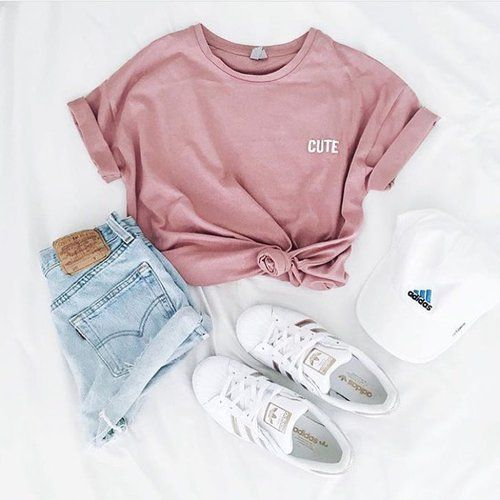fashion, outfit, and adidas image   Clothes, Cute summer outfits .