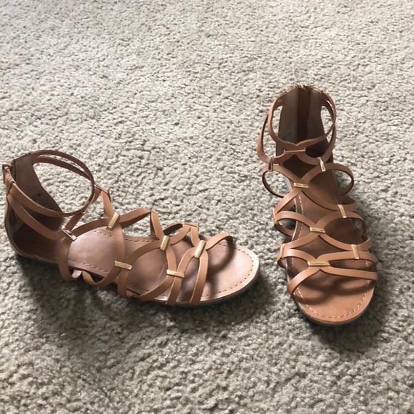 Shoes   Cute Summer Sandals Light Brown   Poshma