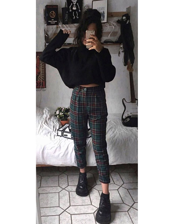 22 Vintage Outfits   Grunge outfits fall, Casual fall outfits .
