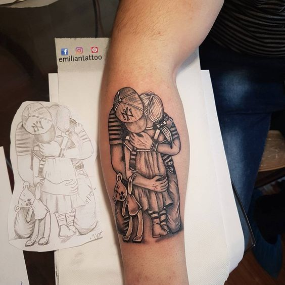 Father Daughter Tattoos | Tattoos for daughters, Father daughter .