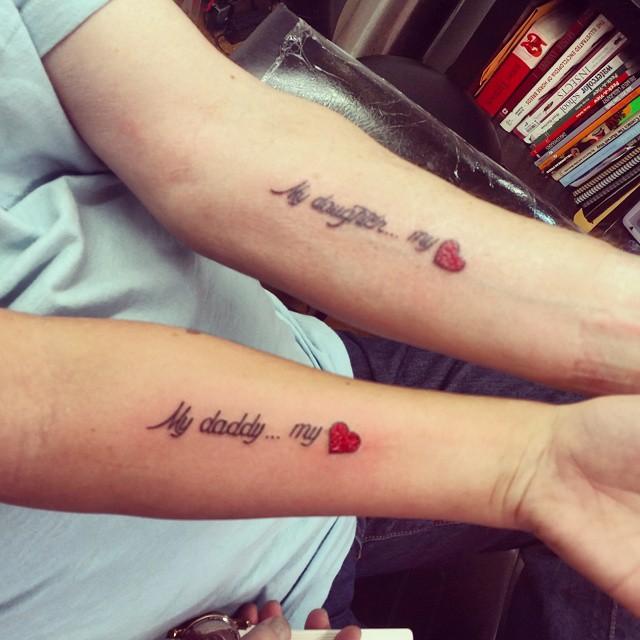 80+ Cute Father-Daughter Tattoos – Body Art Gu