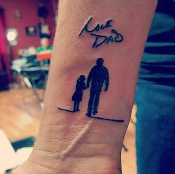 Memorial Tattoos | Tattoos for daughters, Tattoos for dad memorial .