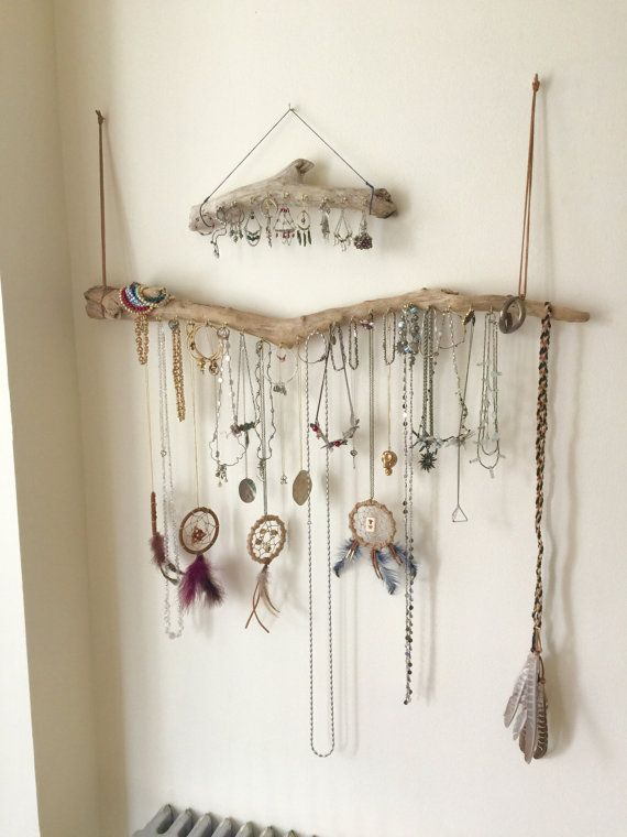 Driftwood Jewelry Organizer - Made to Order Jewelry Hangers - Pick .