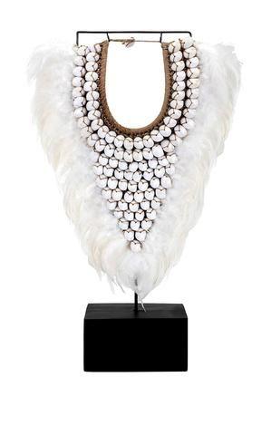 Zander Shell Necklace on Stand tribal boho decorative seashell .