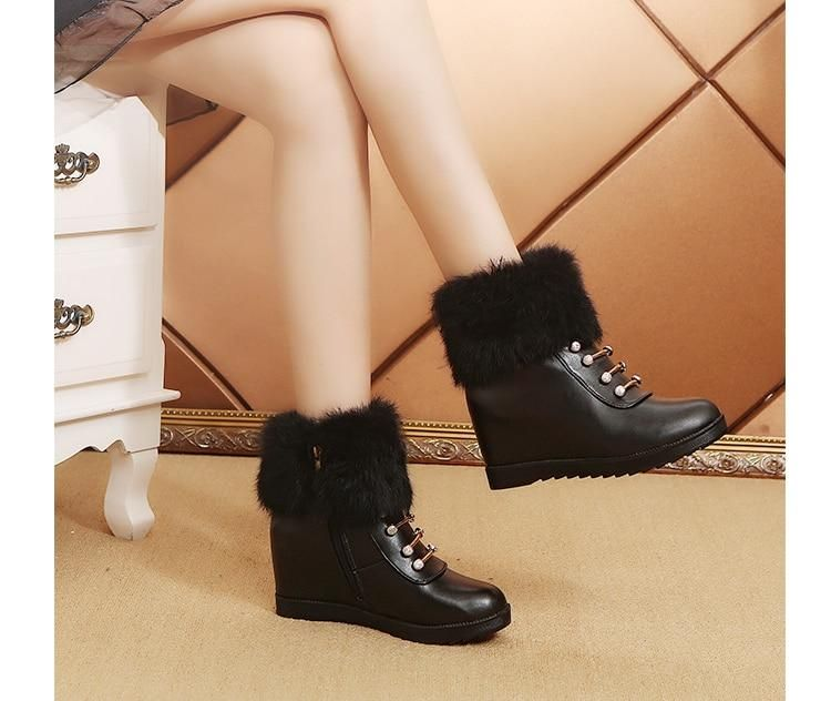 Shiny Fur Diamond - Elegant Designer Winter Boots – GemCor