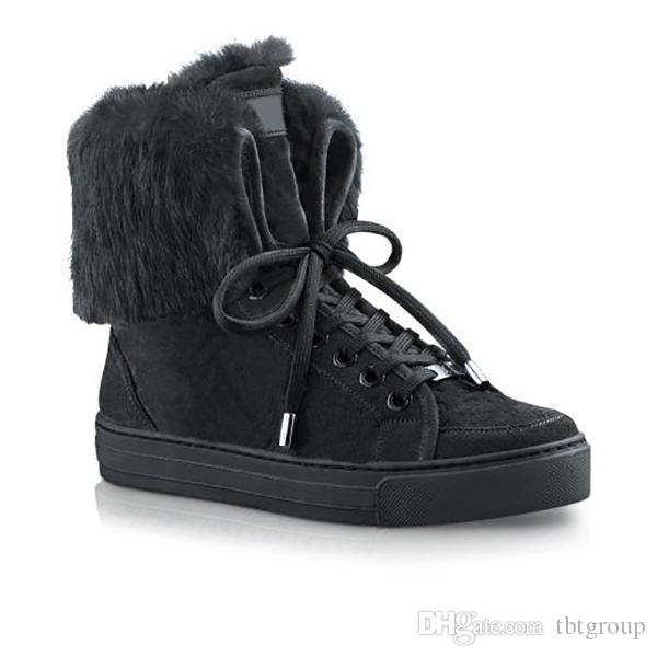 2020 Designer Winter Boots Women Snow Boots Calf Leather And .