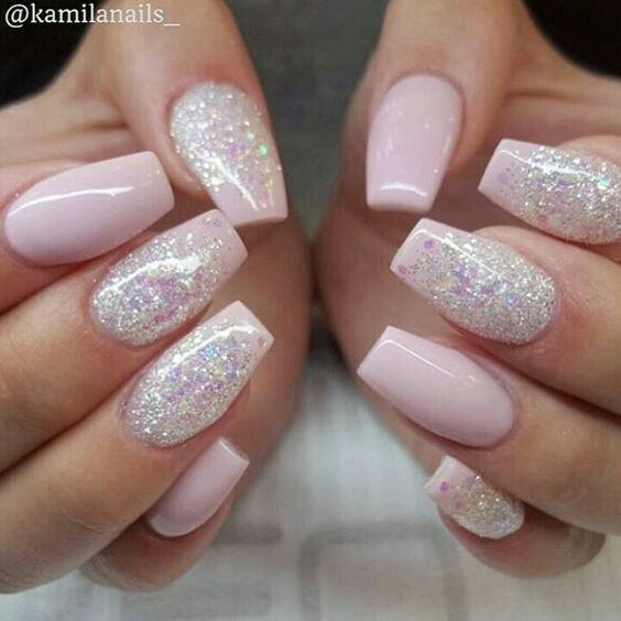 Top 40 Beautiful Glitter Nail Designs To Make You Look Trendy And .