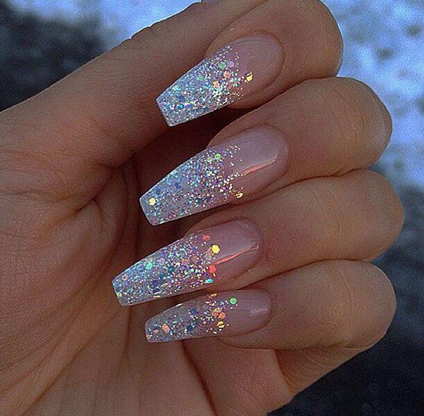 Pinterest: @JordanChrome   Nail designs glitter, Cute acrylic .