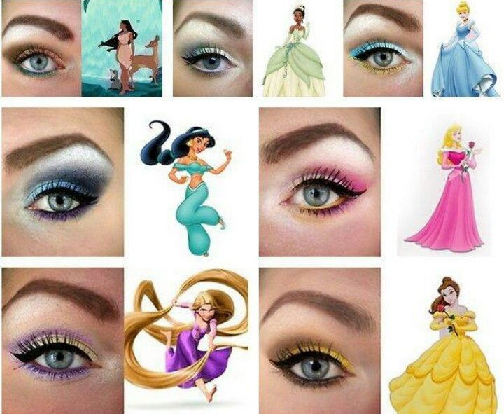 Disney Princess Eyeshadow   Disney eye makeup, Disney princess .
