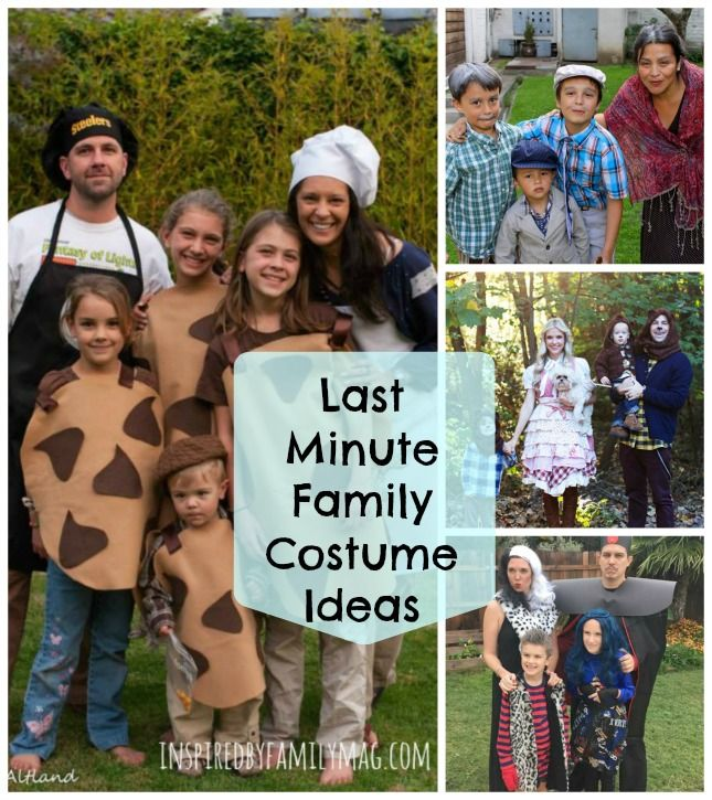 Last Minute DIY Family Halloween Costumes   Family themed .