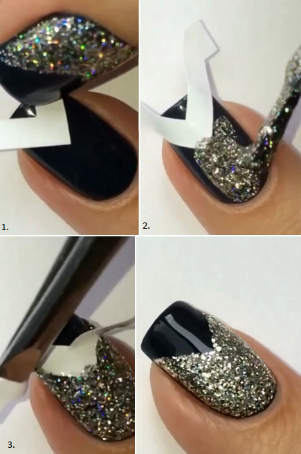 DIY Manicure For New Year's Eve - AllDayChic | Simple nails, Nail .