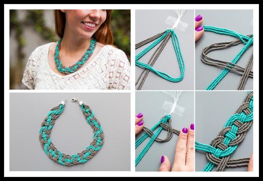 DIY Woven Bead Statement Necklace Tutorial | DIY T