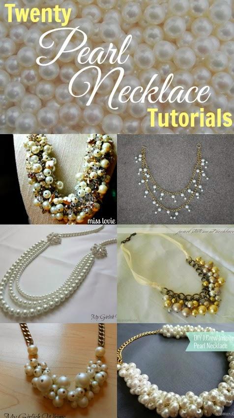 Twenty Pearl Necklace Tutorials - My Girlish Whi