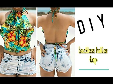 DIY Backless Summer Top - YouTu