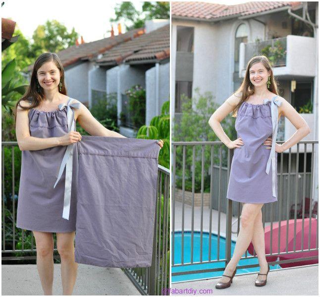 DIY Pillowcase Dress Top Romper Tutorial | Pillowcase dress .