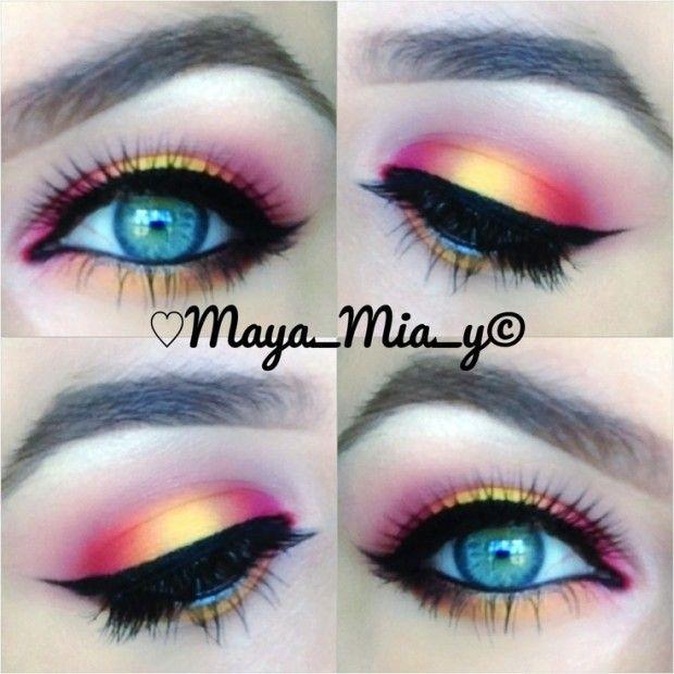 30 Glamorous Eye Makeup Ideas for Dramatic Look | Blue eye makeup .