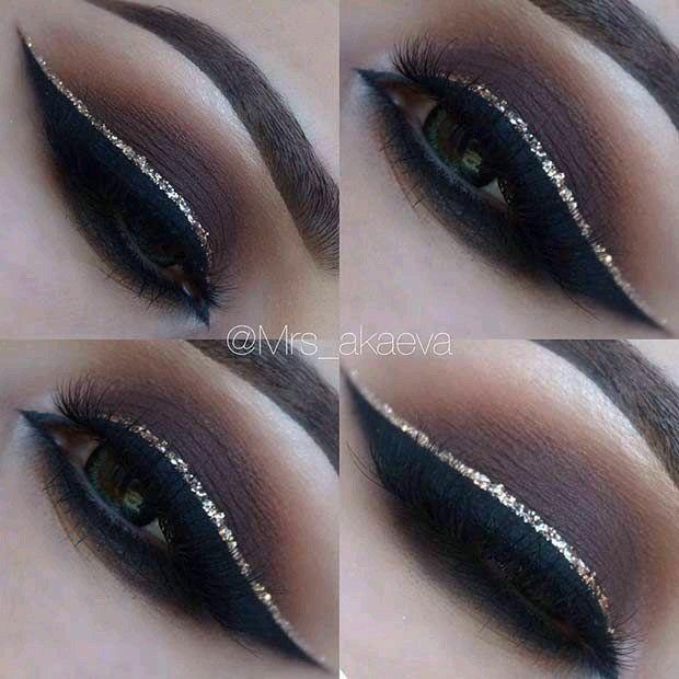 Gorgeous dramatic eye makeup, winged liner ideas | Dramatic eye .