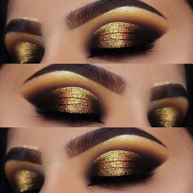 23 Glam Makeup Ideas for Christmas 2017 | StayGlam | Dramatic eye .
